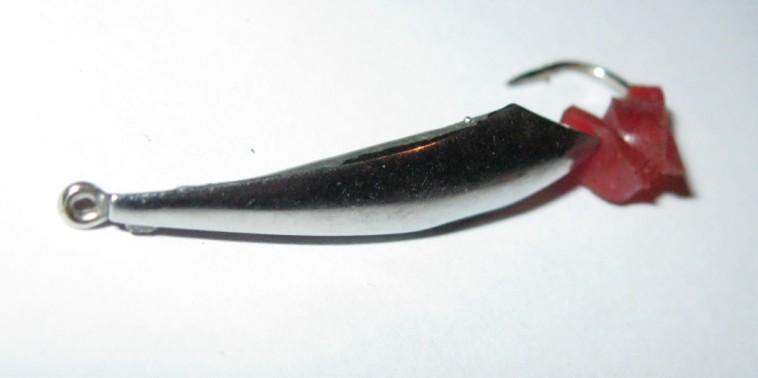 Дорабатываем зимние блесны, серебристая блесна для зимней рыбалки, фото крупно