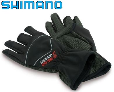 Рыболовные беспалые перчатки shimano