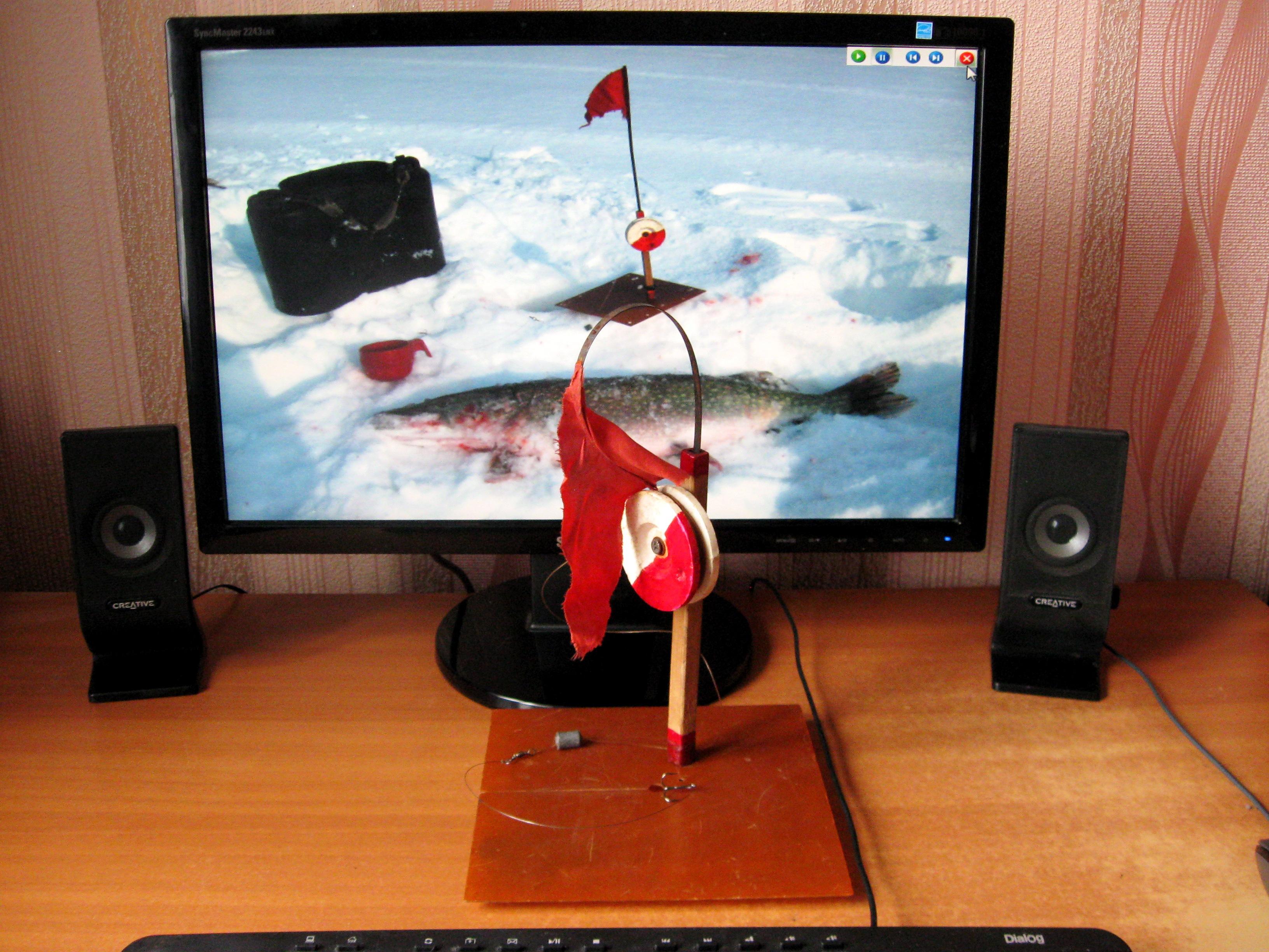 Перволедье. Зимние жерлицы, зимняя жерлица с одной опорой, фото
