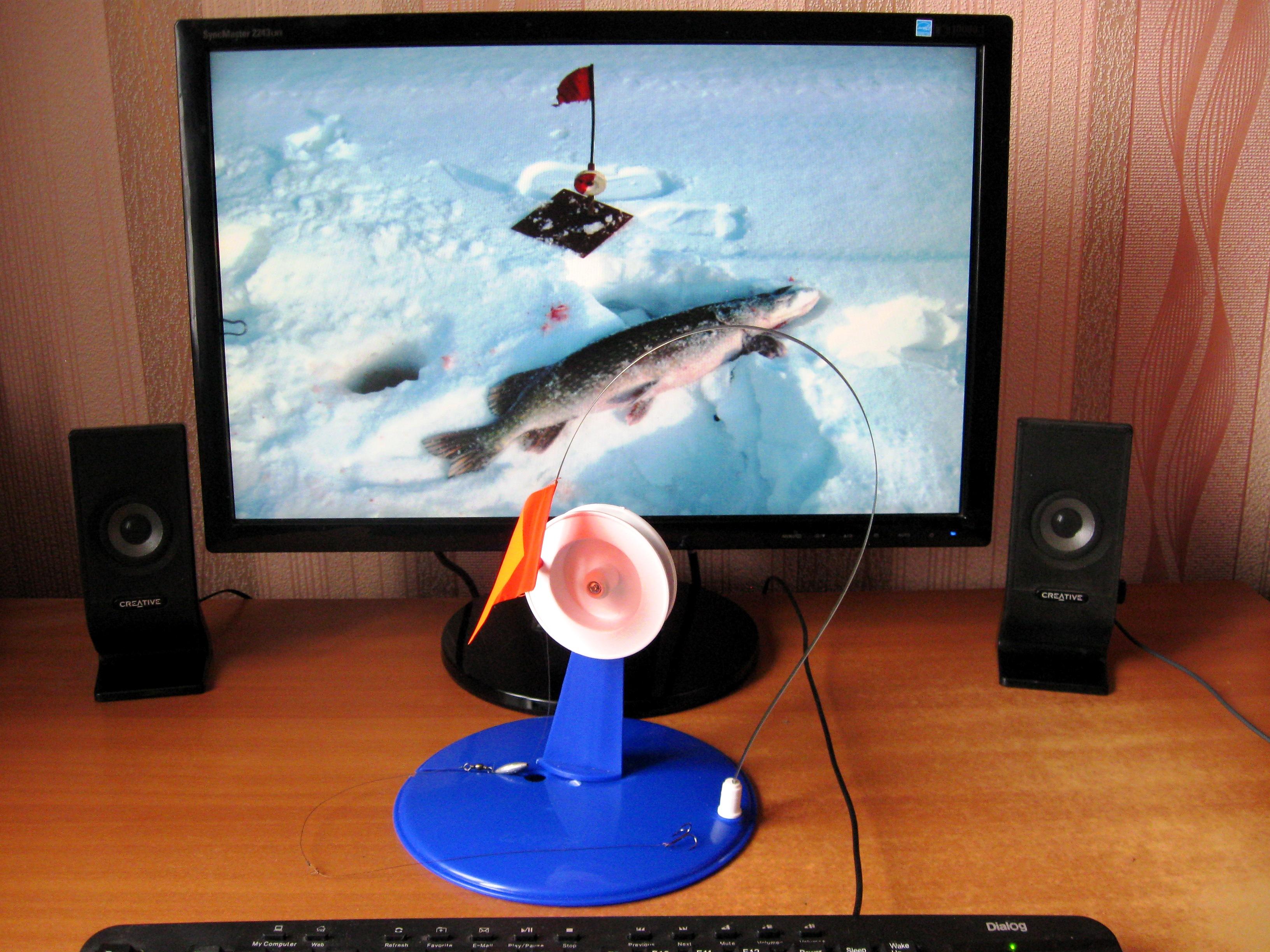 Перволедье. Зимние жерлицы, зимняя жерлица на подставке, качественное фото