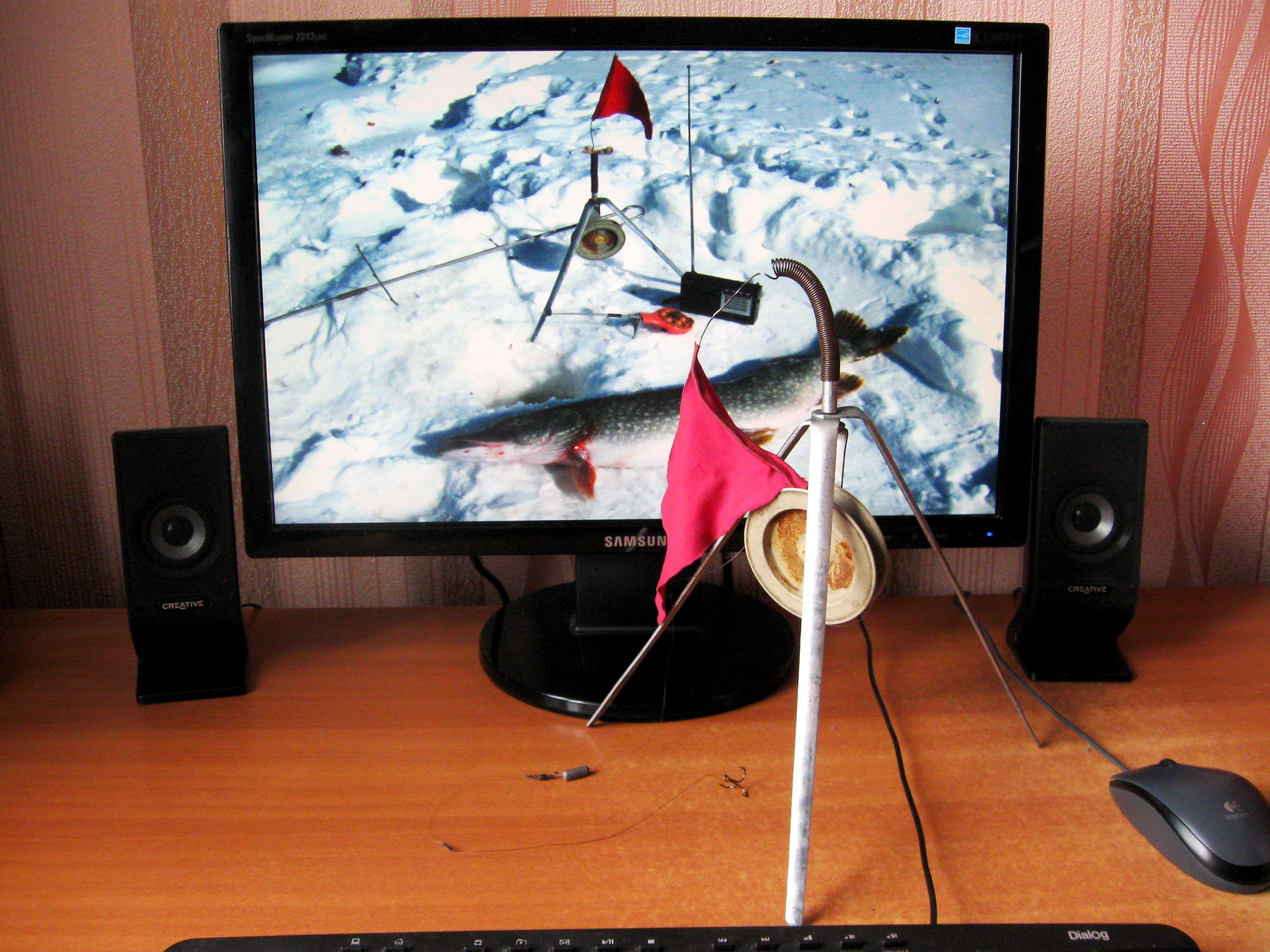 Перволедье. Зимние жерлицы, зимняя жерлица на трёх опорах, подробное фото