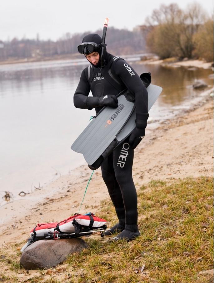 водолазный костюм для подводной рыбалки